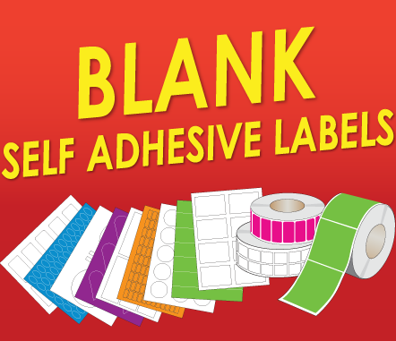 Blank self adhesive labels for you to print on