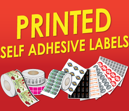 Printed self adhesive labels with your design